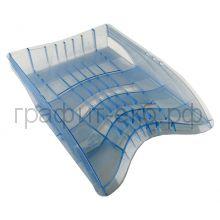 Поддон горизонтальный прозрачный голубой S-WING 20420