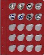 Лист для монет в капсулах диаметром 31 мм (красный) K01-D31MM