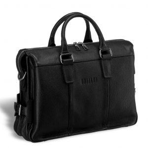 Надежная мужская сумка для документов BRIALDI Bard (Бард) relief black