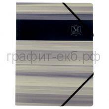 Папка А4 на резинках Herlitz картон Montana синяя 10084192