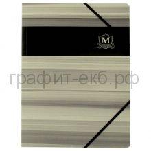 Папка А4 на резинках Herlitz картон Montana черная 10084309