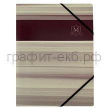 Папка А4 на резинках Herlitz картон Montana коричневая 10420859