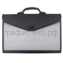 Портфель А4 13отд.Lamark черный/серый Lamark017