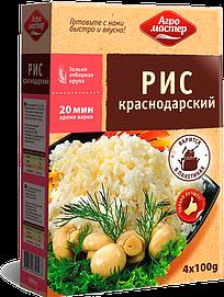 Агромастер Рис шлифованный краснодарский ВП (100гр*4) 400гр*6