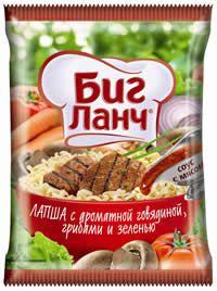 """Лапша БП """"Биг Ланч"""" КБГ брикет, с ароматной говядиной, грибами и зеленью 75г"""