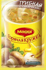 """Суп """"Магги"""" Горячая Кружка Грибной с сухариками 20гр."""