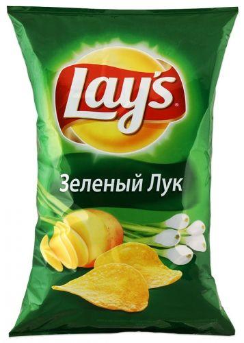 "Чипсы ""Лейз"" зеленый лук 150гр"