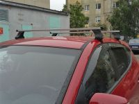 Багажник на крышy Toyota Venza, Атлант, прямоугольные дуги, опора E