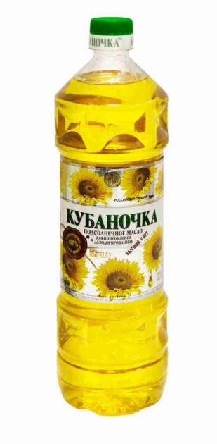 "Масло подсолнечное ""Кубаночка"" раф.дез. 1л"