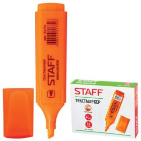 Текстмаркер 1-5мм STAFF Manager оранжевый скошенный након/12 150730