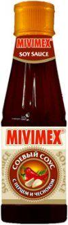 """Соус соевый """"MIVIMEX"""" с перцем и чесноком пл/бут 200г"""