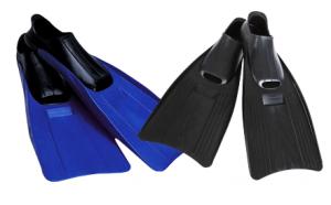 Детские резиновые ласты для плавания (размер 35-37)