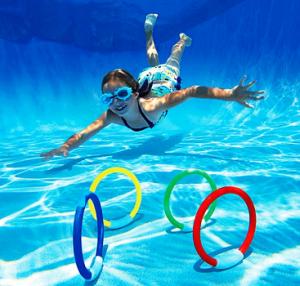 Кольца для подводного плавания, 4 шт в наборе