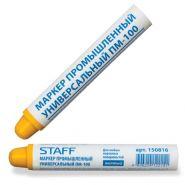 Маркер промышленный STAFF ПМ-100, желтый для любых неровных поверхностей/12 150816