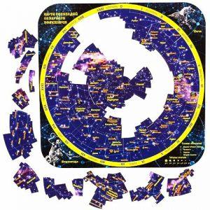 Магнитный пазл Карта созвездий северного полушария