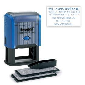 Штамп самонаб 6стр 50*30мм TRODAT синий касса+пинцет 4929/DB