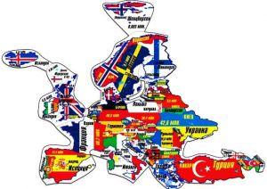 Магнитный географический пазл Европа