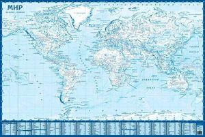 Контурная карта Мира настенная