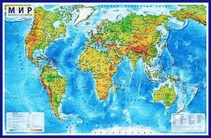 Мир Физический (1:29М, 101х66 см)