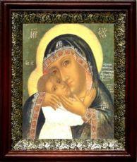 Девпетерувская икона БМ (19х22), темный киот