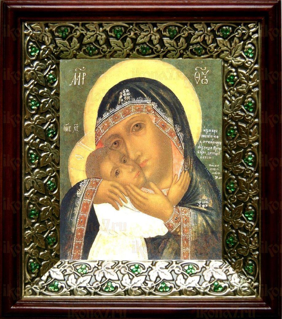 Девпетерувская икона БМ (21х24), киот со стразами