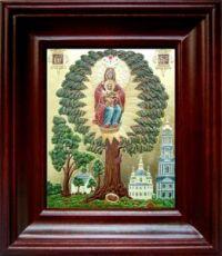Елецкая Черниговская икона БМ (21х24), простой киот