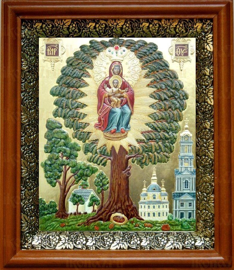 Елецкая Черниговская икона БМ (19х22), светлый киот