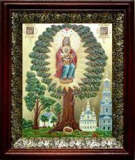 Елецкая Черниговская икона БМ (19х22), темный киот