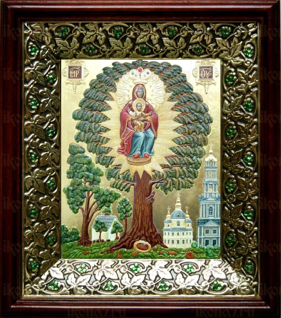 Елецкая Черниговская икона БМ (21х24), киот со стразами