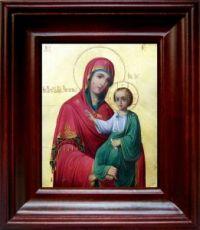 Закланная икона Божьей Матери (21х24), простой киот