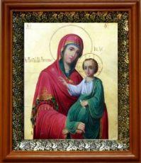 Закланная икона Божьей Матери (19х22), светлый киот