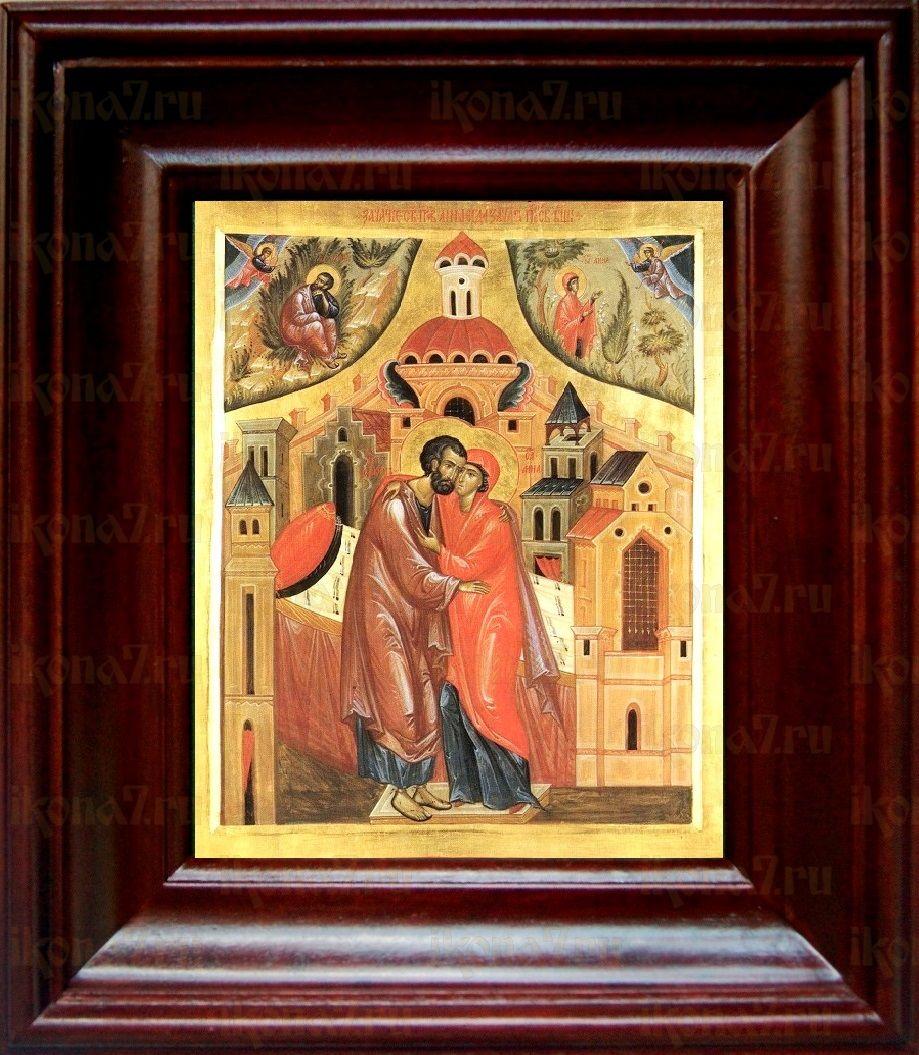 Зачатие Пресвятой Богородицы (21х24), простой киот