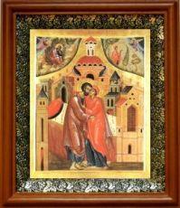 Зачатие Пресвятой Богородицы (19х22), светлый киот