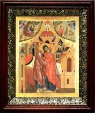 Зачатие Пресвятой Богородицы (19х22), темный киот