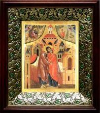 Зачатие Пресвятой Богородицы (21х24), киот со стразами