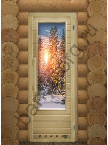 Дверь DoorWood Элит Зима с фотопечатью