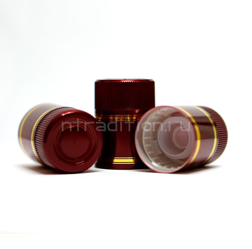 Колпачок с дозатором Гуала - бордовый 47 мм (10 шт.)