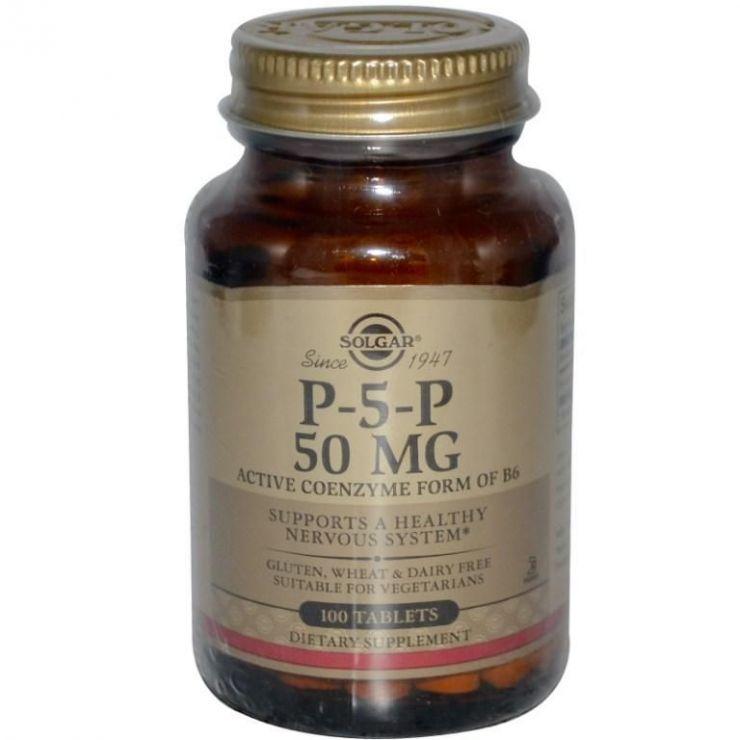 Солгар Пиридоксаль-5-фосфат, 50 мг, 100 таблеток