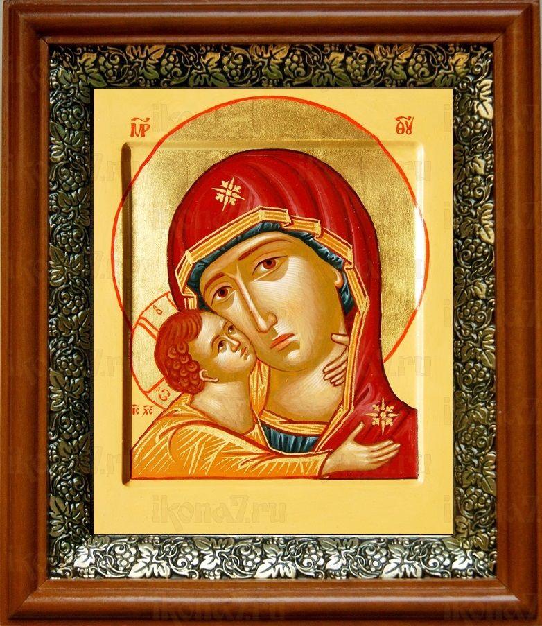 Игоревская икона БМ (19х22), светлый киот
