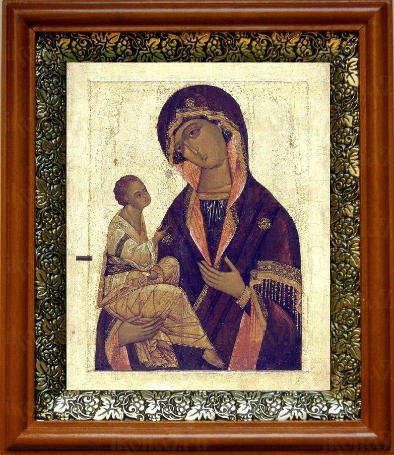 Иерусалимская икона БМ (19х22), светлый киот