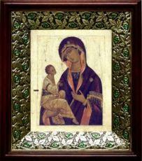 Иерусалимская икона БМ (21х24), киот со стразами