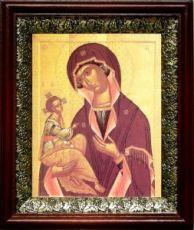 Иерусалимская икона БМ (19х22), темный киот