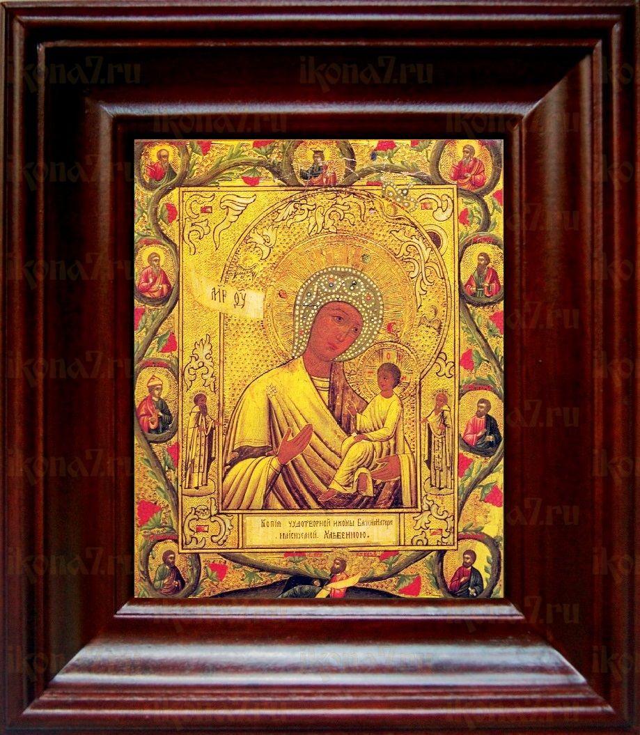 Хлебная икона БМ (21х24), простой киот