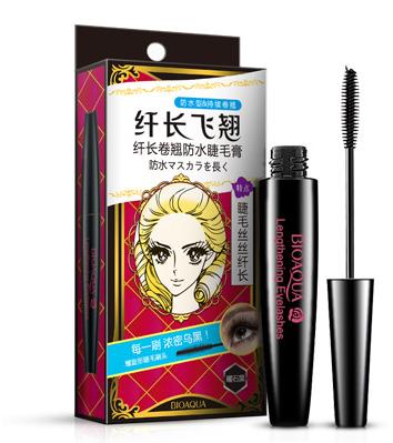 Тушь для ресниц (устойчивая к влаге)  «BIOAQUA» Dazzle Black Mascara в черном футляре.(1037)