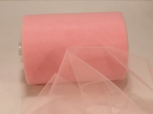 Фатин мягкий, ширина 15 см, бобина 100 ярдов, цвет: R08 розовый