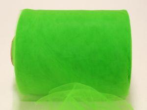 Фатин мягкий, ширина 15 см, бобина 100 ярдов, цвет: R26 зеленый