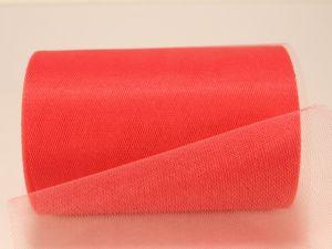 Фатин, средняя жесткость, ширина 15 см, бобина 100 ярдов, цвет: C13 коралловый