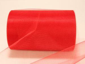 Фатин, средняя жесткость, ширина 15 см, бобина 100 ярдов, цвет: C17 красный