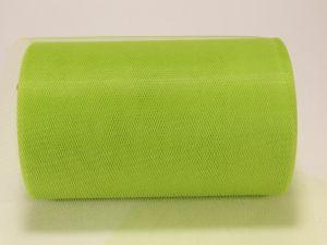 Фатин, средняя жесткость, ширина 15 см, бобина 100 ярдов, цвет: C31 зеленый