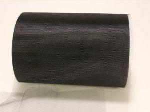 Фатин, средняя жесткость, ширина 15 см, бобина 100 ярдов, цвет: C40 черный